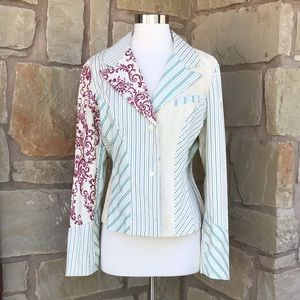 NWT Anthropologie Elevenses Embroidered Blazer 12